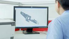 3D Modell auf Bildschirm 01