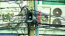 Kabelmast in Bangkok 01