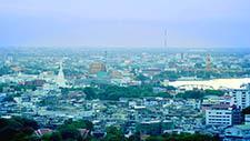 Weite Aussicht auf Bangkok's Stadtviertel 01