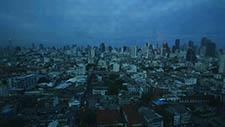 Weite Aussicht am Abend auf Bangkok's Stadtviertel 01