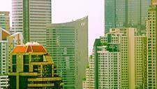 Moderne Hochhäuser in Bangkok 01