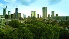 Skyline Frankfurt - Drohnen Aufnahme 02