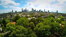 Skyline Frankfurt - Drohnen Aufnahme 06