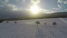 Schneelandschaft bei Sonne und blauem Himmel [Gopro 2,7k] 01