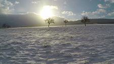 Flug über Schnee bei Wind [Gopro 2,7k] 02