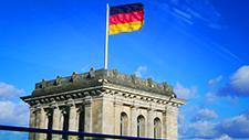Deutschlandfahne im Wind 01