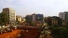 Baustelle in der Innenstadt Nairobis (Kenia) 01
