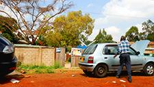 Bürgersteig in Nairobi (Kenia) 01