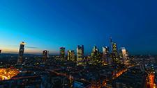 Frankfurt Skyline Zeitraffer day to night 03