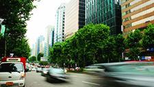 Stadtverkehr in Seoul Zeitraffer 03