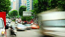 Stadtverkehr in Seoul Zeitraffer 04