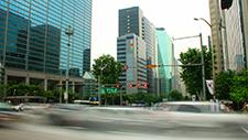 Straßenkreuzung in Seoul Zeitraffer 04