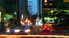 Stadtverkehr in Seoul Zeitraffer 06