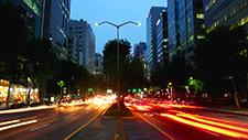 Stadtverkehr in Seoul Zeitraffer 07