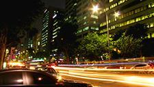 Stadtverkehr in Seoul Zeitraffer 08