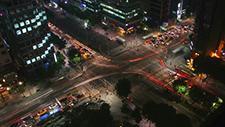 Straßenkreuzung in Seoul Zeitraffer 07