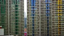 Hochhaussiedlung in Asien (Peking) 01