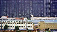 Hochhaussiedlung in Asien (Peking) 02