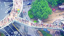 Fussgängerbrücke in Asien (Shanghai) 02