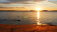 Sonnenuntergang am See 06