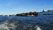 Motorbootfahrt im Stockholmer (Schweden) Hafen 21