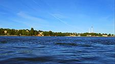 Motorbootfahrt im Stockholmer (Schweden) Hafen 23