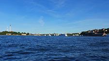 Motorbootfahrt im Stockholmer (Schweden) Hafen 24
