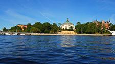 Motorbootfahrt im Stockholmer (Schweden) Hafen 27