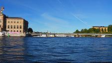 Motorbootfahrt im Stockholmer (Schweden) Hafen 28