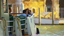 Venedig Boot auf Kanal 01