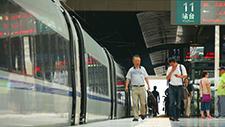 Bahnsteig in Shanghai 05