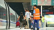 Bahnsteig in Shanghai 06